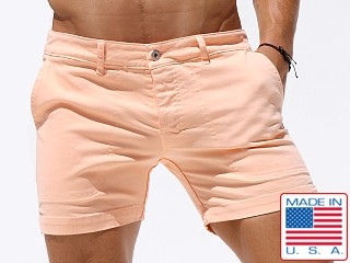 Rufskin Warren Stretch Twill Denim Shorts Apricot