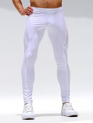 Rufskin Bait Stretch Mesh Panel Sport Leggings White