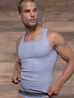 C-IN2 Pop Colors Square Neck Tank Top Grape Grey