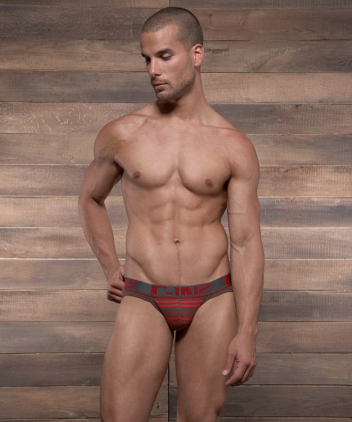 C-IN2 Pop Stripes Sport Brief Espresso