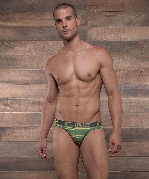 C-IN2 Pop Stripes Sport Brief Emerald Green