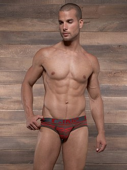 C-IN2 Pop Stripes Lo No Show Brief Espresso