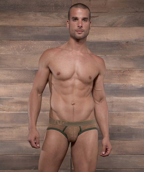 C-IN2 Hand Me Down Lo No Show Profile Brief Russet