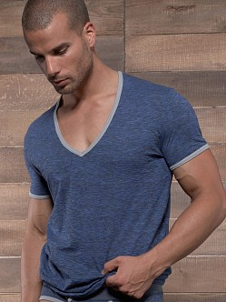 C-IN2 Hand Me Down Ringer V-Neck Shirt Denim