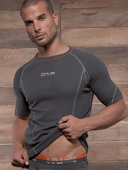 C-IN2 Grip Crew Neck Shirt Charcoal