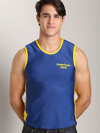 Complete the look: American Jock Logo Muscle Tee Navy/Yellow