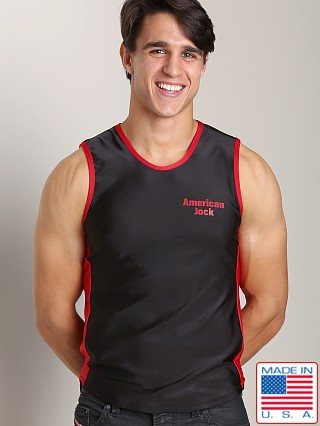 American Jock Logo Muscle Tee Black/Red