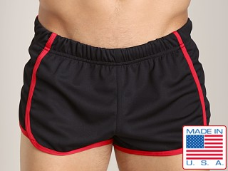 American Jock Glory Running Short Black/Red