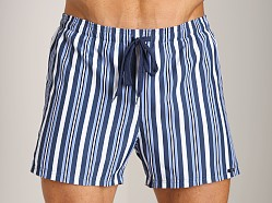 GrigioPerla Nero Perla Corfu Striped Shorts Riga Blue