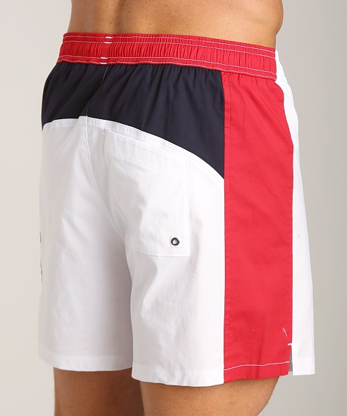 GrigioPerla Nero Perla Mykonos Colorblock Shorts White