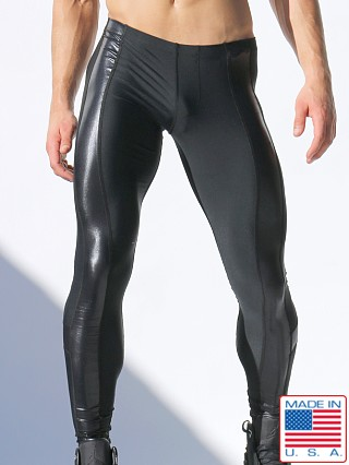 Rufskin Shine Stretch Nylon Leggings Black