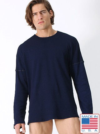 Rufskin Abyss 2x2 Ribbed Oversized Crew Neck Natural Indigo