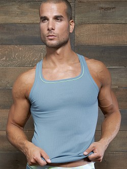 C-IN2 Pop Colors Square Neck Tank Top Buff Blue
