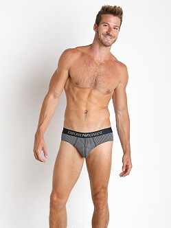 Emporio Armani Classic Prints Brief Smoke Marine