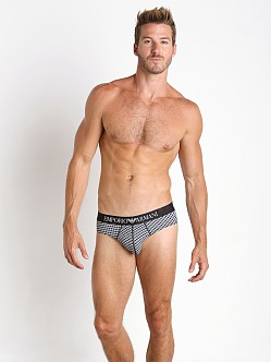 Emporio Armani Classic Prints Brief Black/Ice