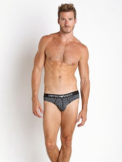 Emporio Armani Classic Prints Brief Black/White