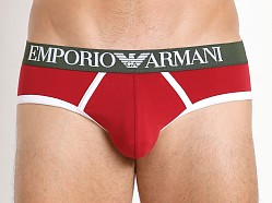 Emporio Armani Italian Flag Brief Ruby