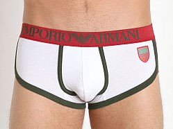 Emporio Armani Italian Flag Short Trunk White