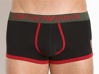 Complete the look: Emporio Armani Italian Flag Trunk Black