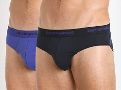 Emporio Armani Stretch Cotton 2-Pack Brief Marine/Royal