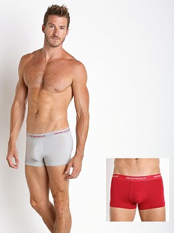 Emporio Armani Stretch Cotton 2-Pack Trunk Ice/Ruby