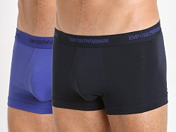 Emporio Armani Stretch Cotton 2-Pack Trunk Marine/Royal