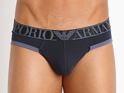 Emporio Armani Shiny Logo Mini Brief Marine