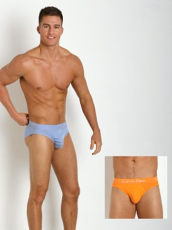 Calvin Klein Body Slim Fit 2-Pack Hip Brief Sky Space/Orange