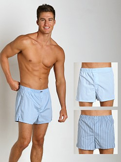 Calvin Klein Woven Boxer 3-Pack Stripes/Solid/Plaid