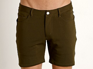 St33le Knit Jeans Shorts Army