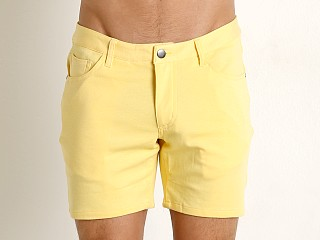 St33le Knit Jeans Shorts Yellow