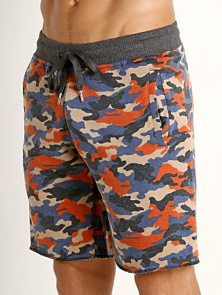 St33le Vintage Wash Fleece Raw Edge Shorts Red Camo