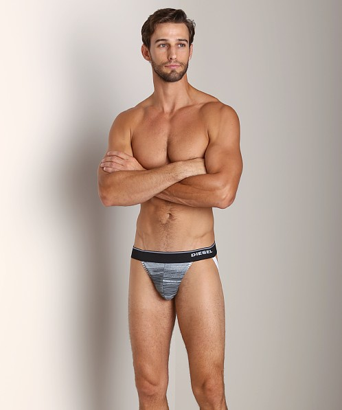 Diesel Striped Jocky Jockstrap Black/Grey
