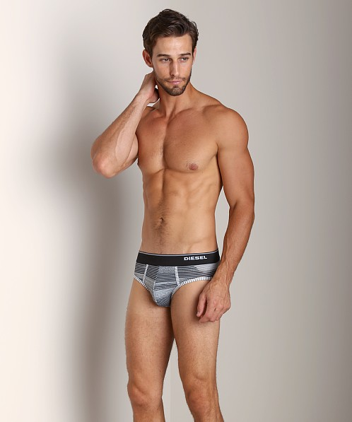 Diesel Striped Andre Brief Black/Grey