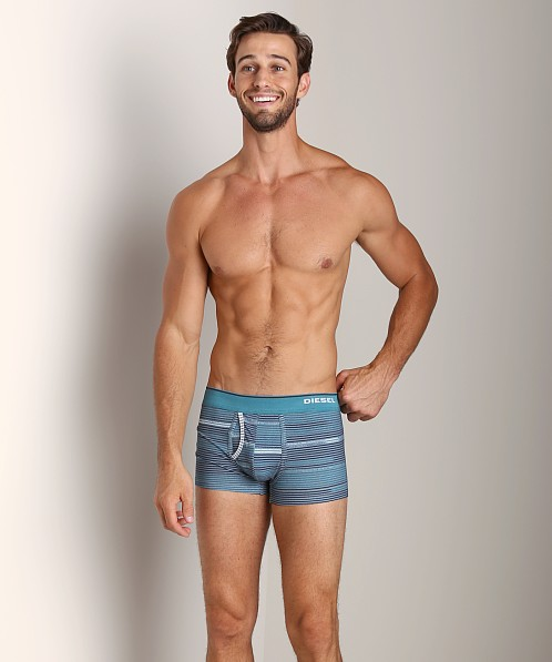 Diesel Striped Divine Trunk Turquoise/Navy