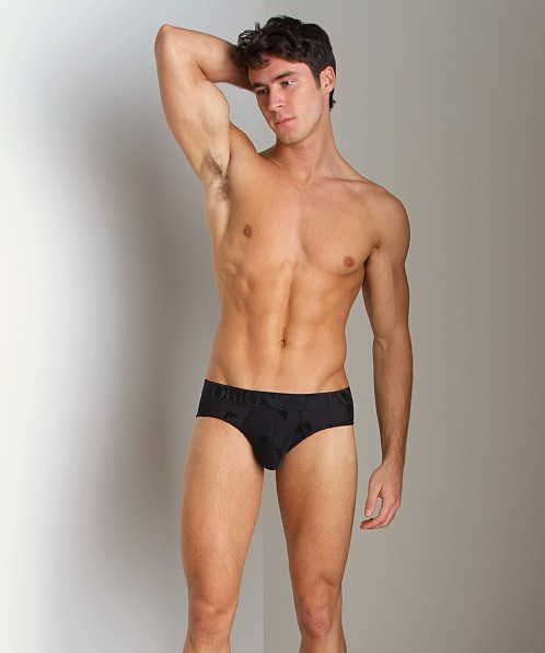 Emporio Armani Smooth Logo Hip Brief Black