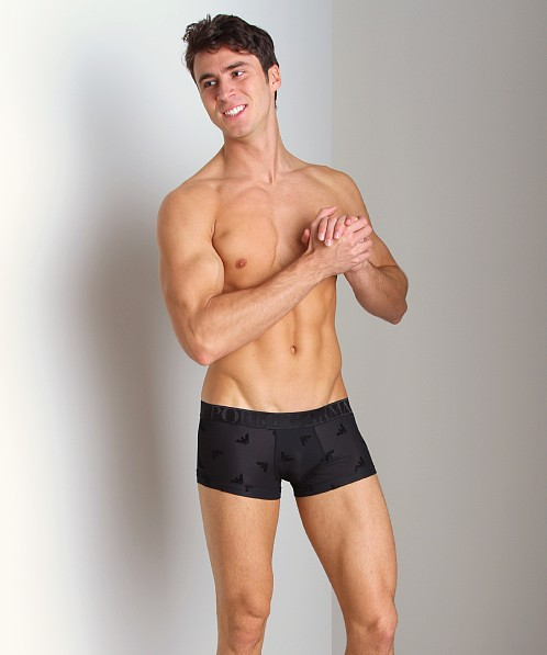 Emporio Armani Smooth Logo Trunk Black