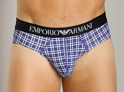 Emporio Armani Striped Hip Brief Violet/White