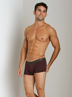 Emporio Armani Stretch Cotton Trunk Burgundy