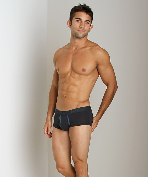 Emporio Armani Contrast Faux-Fly Trunk Marine
