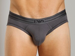 Emporio Armani Contrast Piping Hip Brief Asphalt Grey