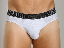 Emporio Armani Repeat Logo Hip Brief White