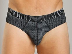 Emporio Armani Repeat Logo Hip Brief Black