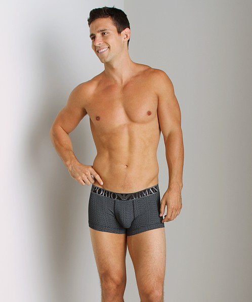 Emporio Armani Repeat Logo Trunk Black