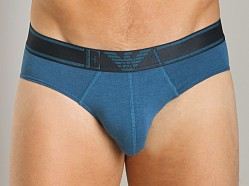 Emporio Armani Striped Waistband Hip Brief Octane