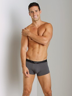 Emporio Armani Striped Waistband Trunk Asphalt Grey