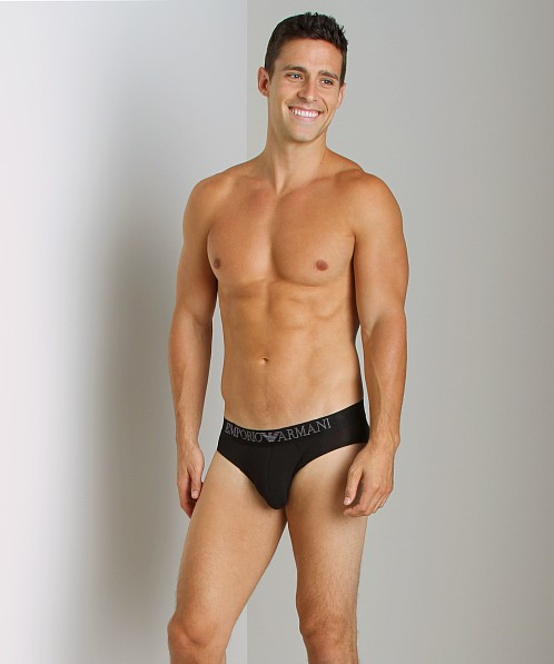 Emporio Armani Modal Hip Brief Black