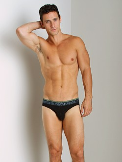 Emporio Armani Double Waistband Hip Brief Black