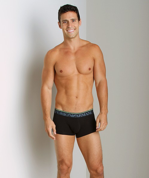 Emporio Armani Double Waistband Trunk Black