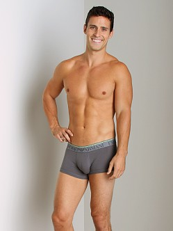 Emporio Armani Double Waistband Trunk Asphalt Grey